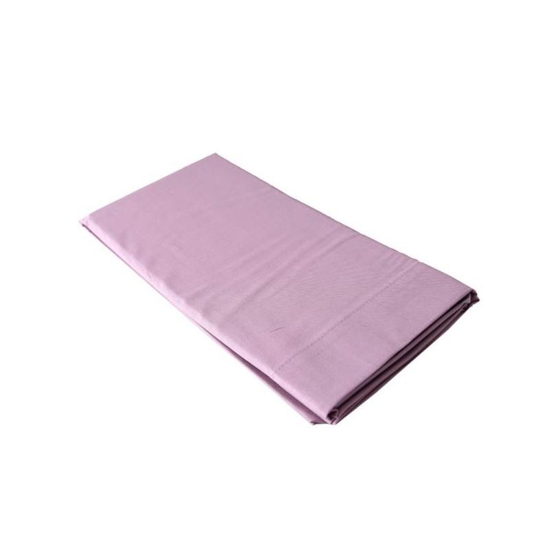 taie d 39 oreiller 60x60 en percale de coton vieux rose linge coton. Black Bedroom Furniture Sets. Home Design Ideas