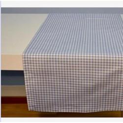 CHEMIN DE TABLE 50X150CM VICHY BLEU