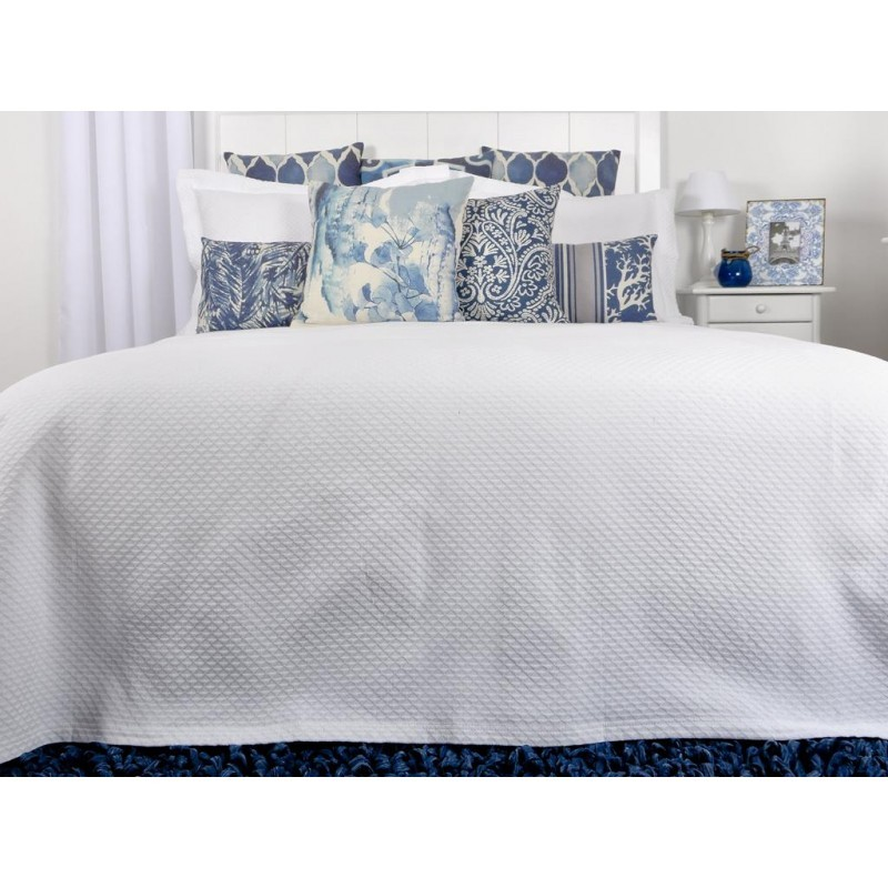 couvre lit 1 place 180x270cm en coton et polyester de. Black Bedroom Furniture Sets. Home Design Ideas