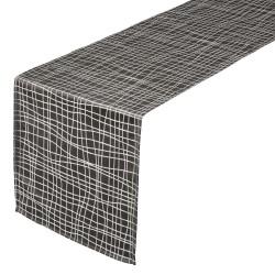 CHEMIN DE TABLE 45X150CM GRIS RAYE