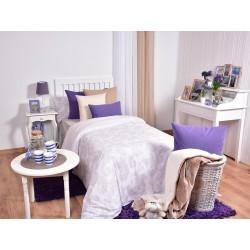 HOUSSE DE COUETTE 240X220CM + DRAP HOUSSE + TAIE TRAVERSIN BAROQUE BEIGE