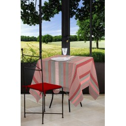 NAPPE 155X250CM SEELVY ROUGE/TAUPE STOF