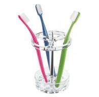 Porte brosse à dent éléctrique en acrylique transparent Interdesign