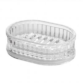 Porte savon ovale épais alstom acrylique transparent Interdesign