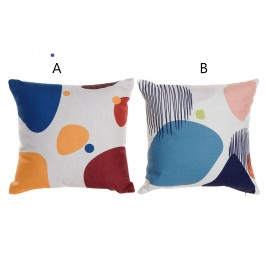 Coussin motifs abstraits