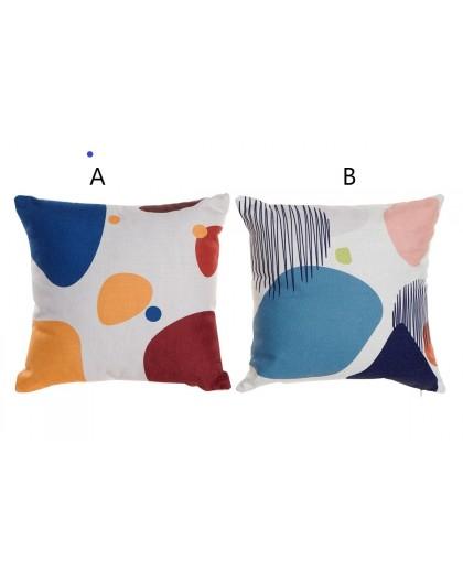 Coussin motifs abstraits