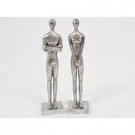Statuette femme argent