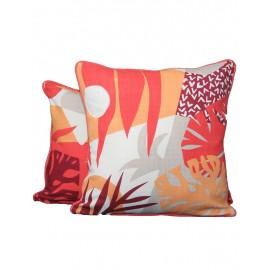 Coussin motifs orange