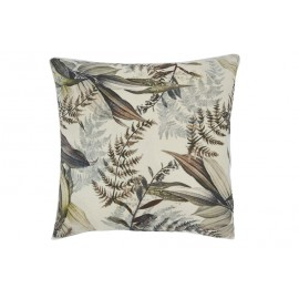 Coussin feuillages velours
