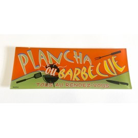 PLAT VERRE APERO PLANCHA/BARBECUE