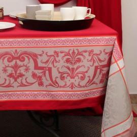 Nappe jacquard rouge