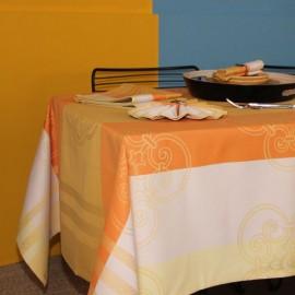 Nappe jacquard orange