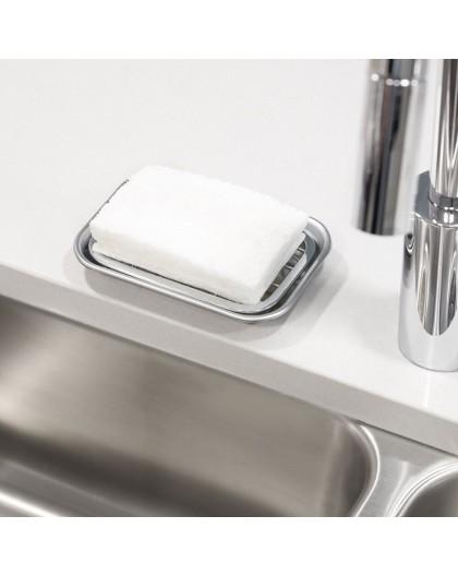 Porte savon inox avec grille Interdesign