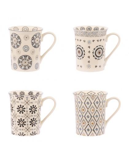 Coffret 4 mugs collection nelson