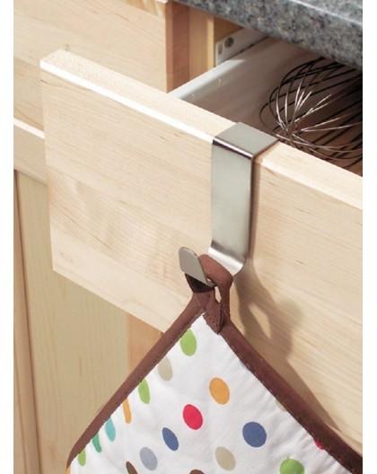Accroche torchon serviette pour tiroir en inox Interdesign