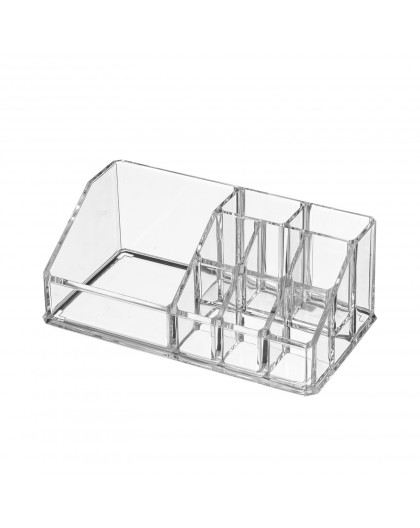BOITE A MAQUILLAGE 22X12X8CM TRANSPARENT
