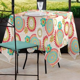 NAPPE RECTANGULAIRE 155X250CM MANDALA COLIMA FICELLE