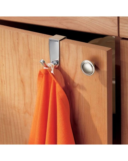 Accroche torchon pour tiroir en inox Interdesign