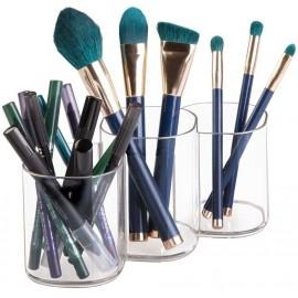 casa Rangement pour cosmétiques avec 3 cases transparent Interdesign