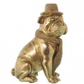 Statuette bouledog doré