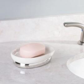 Porte savon céramique blanc