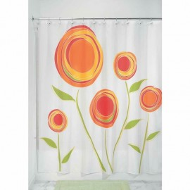 Rideau de douche fleuri