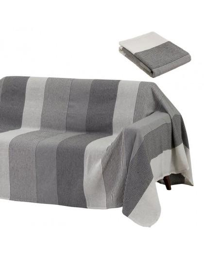 Plaid en coton gris