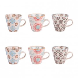 COLLECTION BOHEME COFFRET 6 TASSES A CAFE