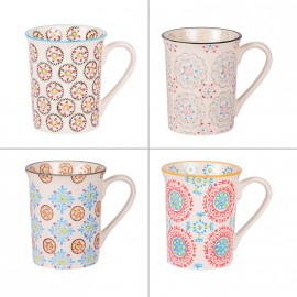Coffret 4 mugs collection Bohème
