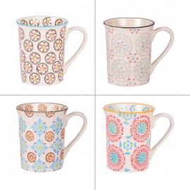 Coffret 4 mugs collection Bohème